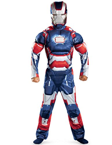 [Marvel Iron Man 3 Patriot Boys Classic Muscle Costume, 10-12] (Iron Man 3 Costumes Kids)