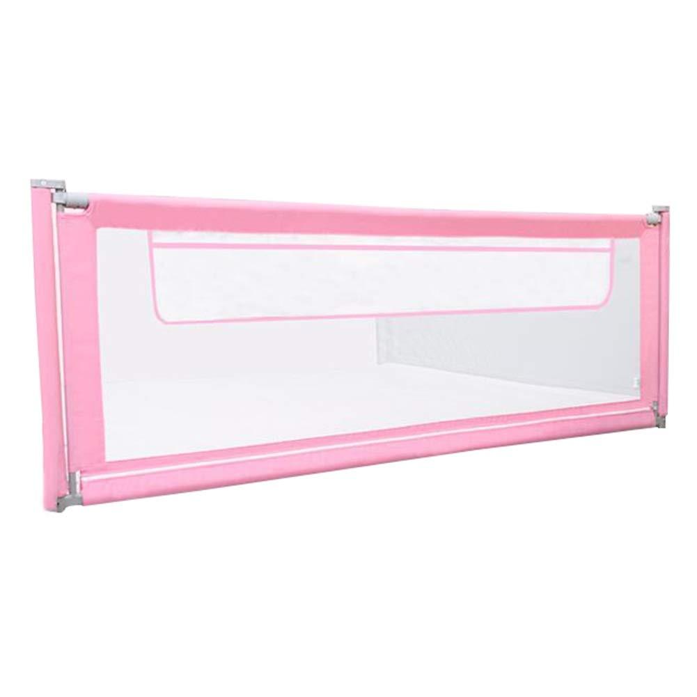 HAIPENG ベッド柵 ベッドガード ベッド フェンス ベッドレール 幼児 保護 警備員 にとって 赤ちゃん 幼児 キッズ と ストレージ ポケット ポータブル 大、 2色、 4サイズ (色 : ピンク, サイズ さいず : 1.8m) 1.8m ピンク B07Q5ZPT1H