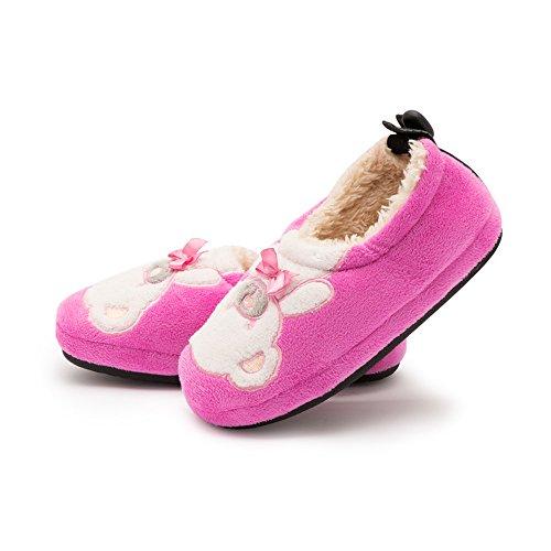 Price comparison product image Kenroll Kids Cute Cozy Fleece House Slippers (13-1 M US Little Kid, KK226-Peachblow)