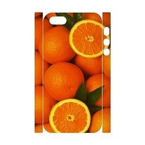 3D Bumper Plastic Customized Case Of Orange for iPhone 5,5S