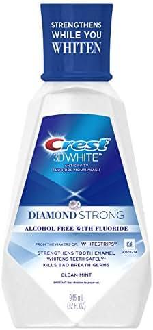 Crest 3D White Mint Mouthwash, 32 Fluid Ounce