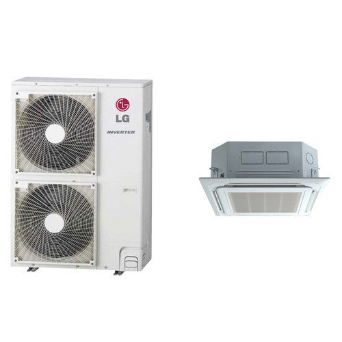 LG LC427HV Ductless Air Conditioner Single-Zone Ceiling Cassette Mini Split System w/ Heat Pump - 42