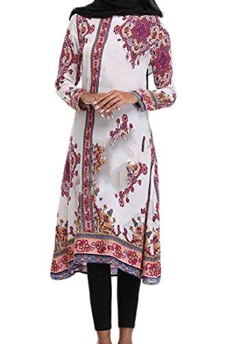 arab white dress - 1