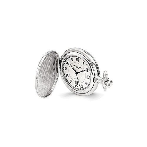 Charles Hubert Chrome-finish Unicorn Shield Pocket Watch ()