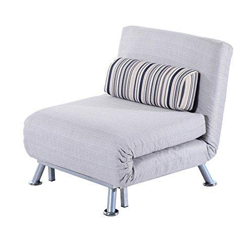 Ikea Poltrone Letto Un Posto.Homcom Poltrona Letto In Ferro E Cotone Con Cuscino A Righe 75 X