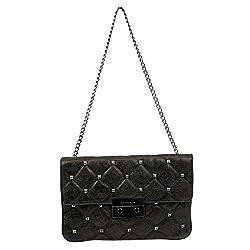 Michael Kors Handbag Sloan Quilt Stud Clutch Nickel