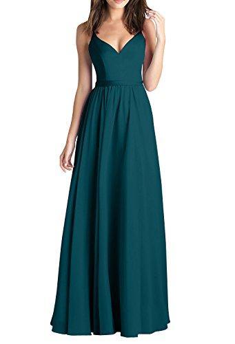 Linie La Promkleider Kleider Brautjungfernkleider A Brau Dunkel Blau Zwei Sommer Lang Traeger Abendkleider Festlich mia rwz0xqYr