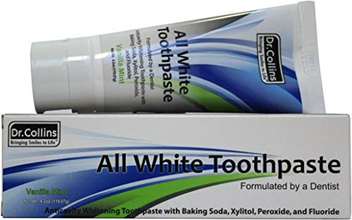 Dr. Collins All White Toothpaste, Vanilla Mint, 4.2-Ounce