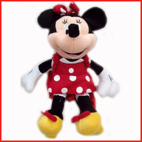 Disney Plush Classic Minnie Mouse Red Polka Dot Dress 15