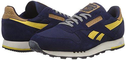 marigold Reebok Chaussures Classic collegiate Bleu black Course Leather Utility Homme Navy Blau stucco De twqwPU