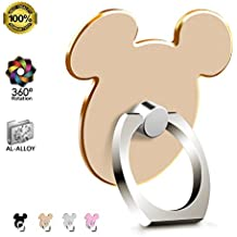 Universal Kickstand for Phone (GOLD) Metal AL-Alloy Finger Ring Stand for iPhone X 8 7 7 Plus 6S Samsung Galaxy S8 S6 Note 8 Tablet and iPad by pipigo