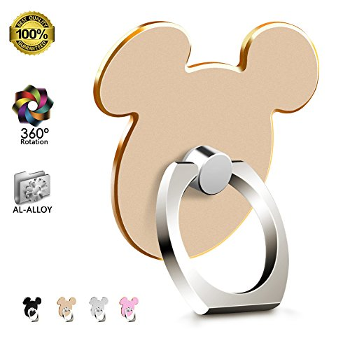 Universal Kickstand for Phone (GOLD) Metal AL-Alloy Finger Ring Stand for iPhone X 8 7 7 Plus 6S Samsung Galaxy S8 S6 Note 8 Tablet and iPad by (Disney Stand)
