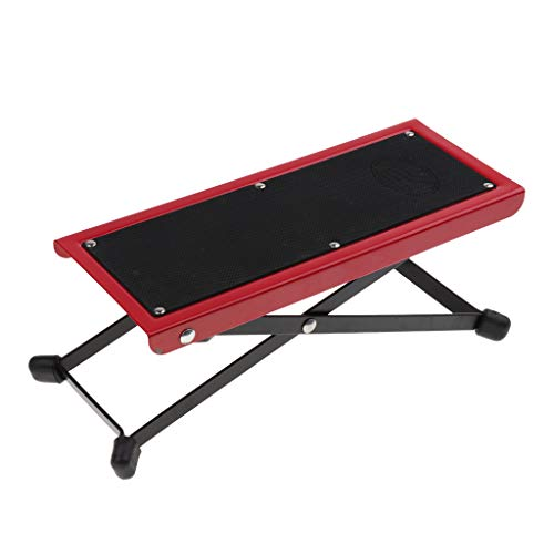 Baosity Foldable Metal Guitar Foot Rest Anti-slip Stand 4-Level for Guitar Player - Red by Baosity (Image #8)