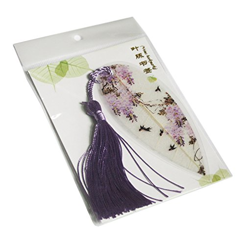 Leaf Bookmarks - Made of Real Leaves 4PCs Landscape vein bookmark with Traditional Chinese painting Business Gift Photo #3
