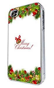Iphone 4 Candy Cane Ornament christmas Holiday Case Merry Christmas (5) Design Case/Back cover Metal and Hard Plastic Case