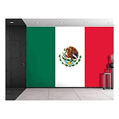 Astonishing Expertise, Quality Artwork, Large Wall Mural Flag of Mexico Vinyl Wallpaper Removable Decorating