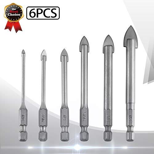(Kalinco 6Pcs Tile Glass Drill Bits Set 1/8
