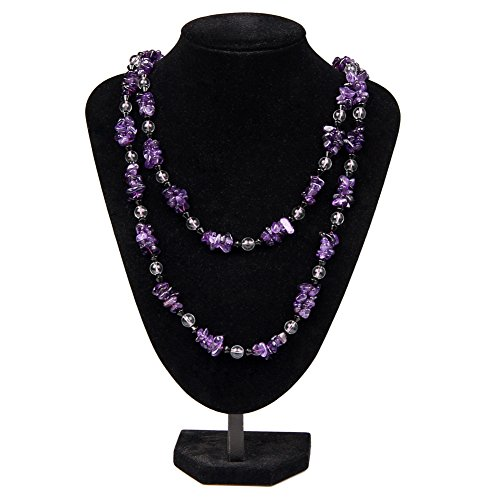 Amethyst Necklace Natural Crystal Necklace Handmade