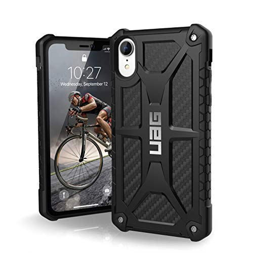 URBAN ARMOR GEAR UAG iPhone XR [6.1-inch Screen] Monarch Feather-Light Rugged [Carbon Fiber] Military Drop Tested iPhone - Monarch Series