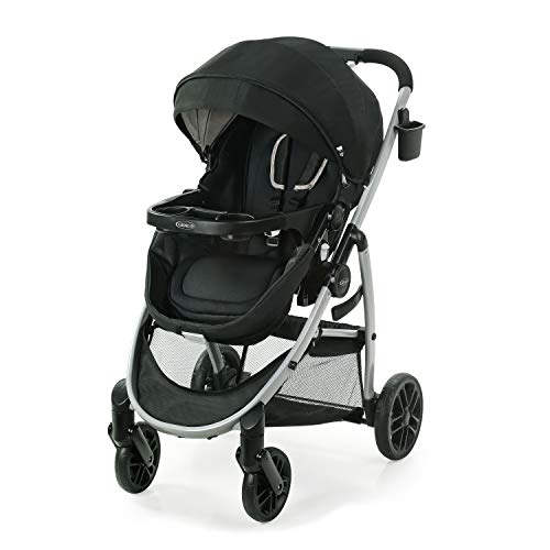 Graco Modes Pramette Stroller | Baby Stroller with True Bassinet Mode, Reversible Seat, One Hand Fold, Extra Storage, Child Tray, Pierce