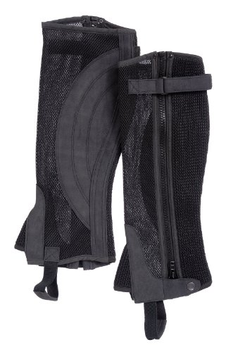 Tough 1 Breatheable Half Chaps, Black, X-Large