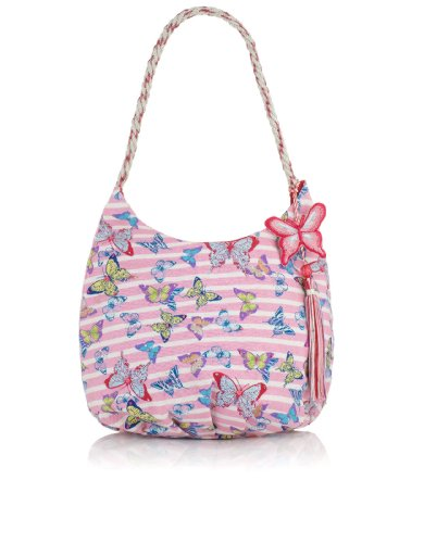 Accessorize Girls Butterfly And Stripe Embellished Bag