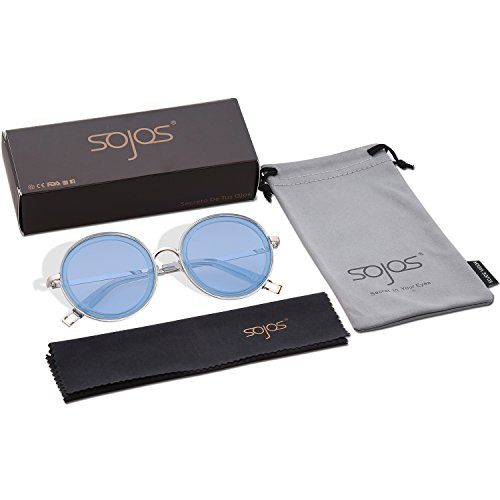 C4 Metal Lentes De Gafas SOJOS Azul Marco Mujer Redondas SJ1076 Marco Azul Lentes Sol YdXzwwnx