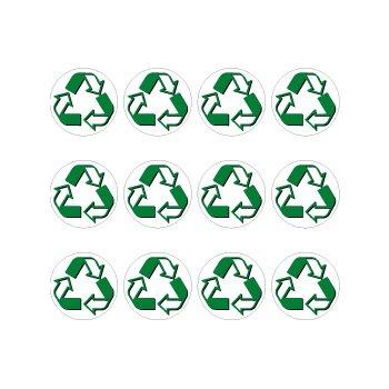 Recycle Symbol Circle Sheet of 12 - Window Bumper (Recycle Symbol Circle)