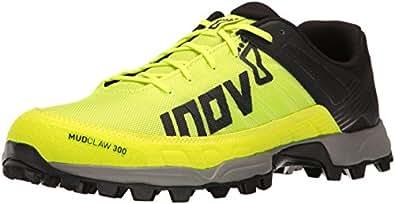 Inov-8 Men's Mudclaw 300 Trail Running Shoe, Neon Yellow/Black/Grey, 10 C US