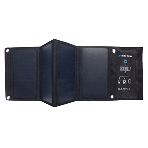 Lywey Outdoor Multi-function Solar Charger 28W High Energy Panel with three USB Port Waterproof Foldable by Lywey