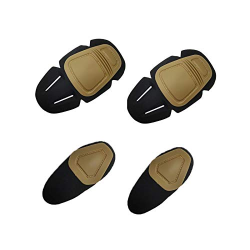 The Mercenary Company G3 Knee & Elbow Pad Set for Crye Precision Combat Pant & Shirt (Tan) (Inserts Emerson Pads Knee)