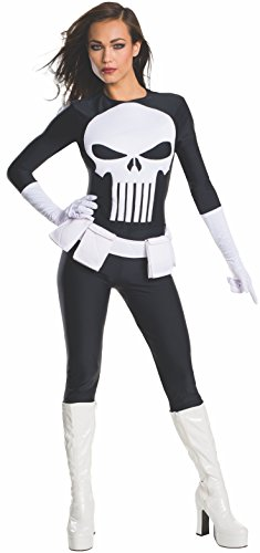Punisher Costume (Marvel Women's Universe Punisher, Multi, Medium)