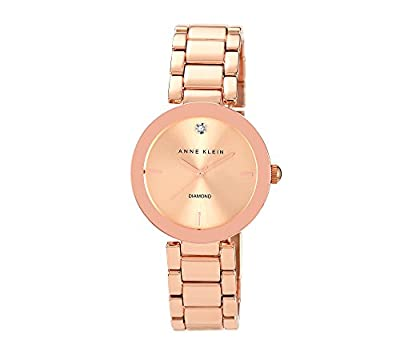 Anne Klein Women's Rose Goldtone Bracelet Watch by Anne Klein