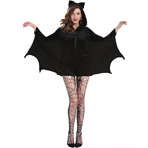 SVANCE Adult Halloween Bats Girl Party Funny Costumes Clothing for Womens,Small-Plus 5 (Flapper Girl Attire)