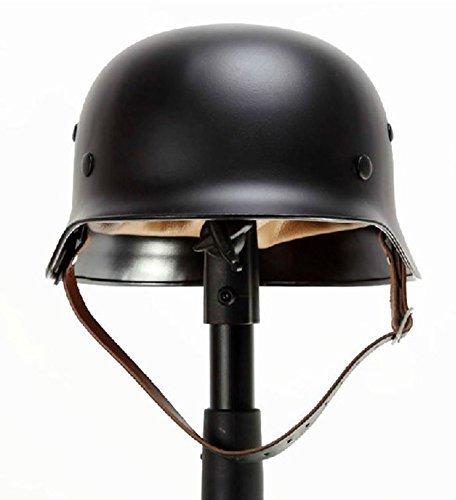 Yaetek BLACK WWII WW2 German Elite Wh Army M35 M1935 Steel Helmet Stahlhelm (German Wwii Helmet)
