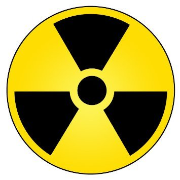 Radioactive hazard symbol bumper sticker radiation warning round car decal 5