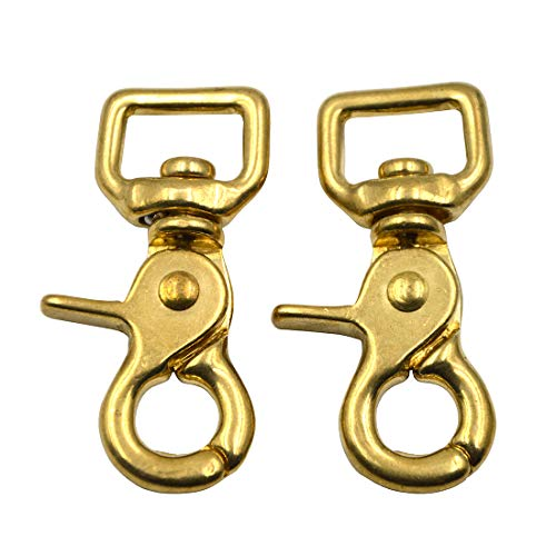 - Okones Pack of 2,5/8''(16mm) Inner Width,Solid Brass Square Lobster Clasps Swivel Trigger Clips Hooks for Straps Bags Belting leathercraft (Hook insides 5/8'')