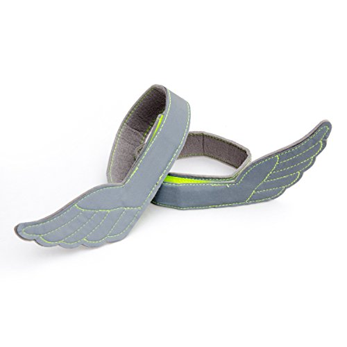 Flectson™ Reflective Wings - High Visibility Bands (Pair) for Safety Outdoors: Running, Biking, Jogging - Flex Fit Stretch How A Hat To