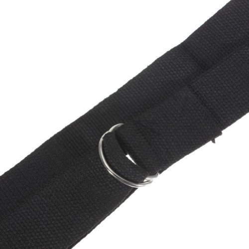 TOOGOO(R) Black Yoga Belt / Yoga Strap - 185cm