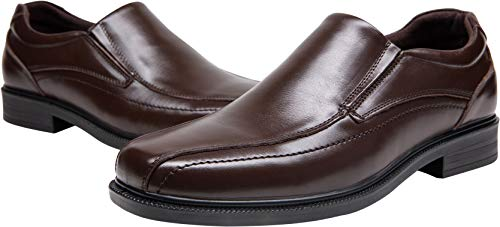 Pictures of JOUSEN Men's Loafers Leather Formal Square 2