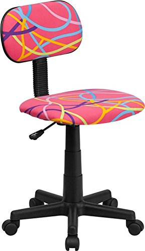 Computer Chair in Multicolor Swirl Pattern