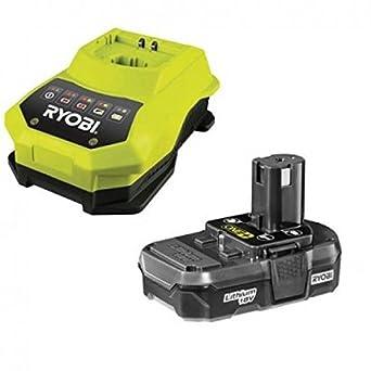 Ryobi 0004684 Li-Ion Batería y Cargador Pack, 18V, 1.3 Ah