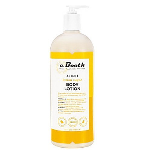 C. Booth 4-In-1 Multi-Action Body Lotion, Lemon Sugar, 32 Fluid Ounce