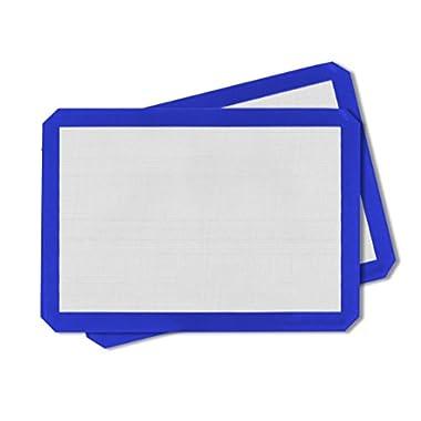 Artistone 2-Pack Non-Stick Blue Silicone Baking Mat