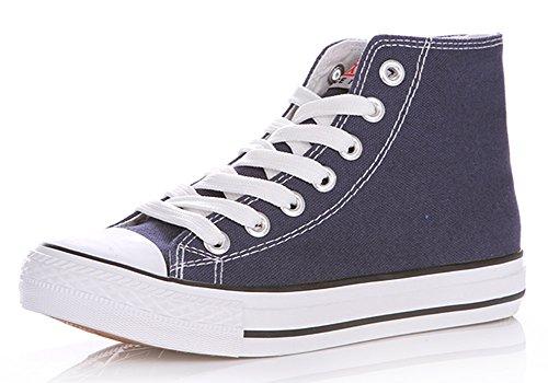 Legend Ec Heren Of Jongens Hoge Top Canvas Schoenen Mode Gymschoenen Schoenen Veterschoenen Gympen Blauw