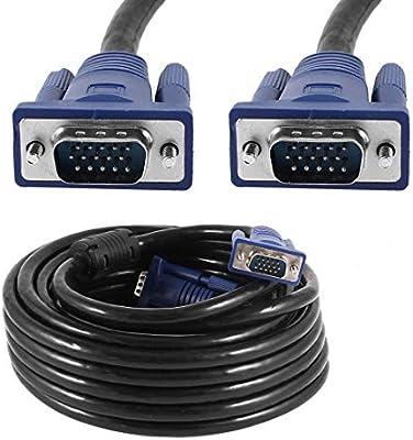 Computer HDTV Cable VGA to VGA SVGA 15pin HDB15P-M Monitor Display 5Meter 15FT