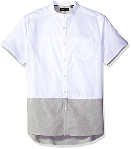Kenneth Cole New York Men's Short Sleeve Banded Collar Co...