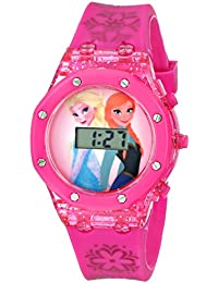 Kids' FZN3568 Frozen Anna and Elsa Digital Watch with Pink Band