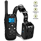 Mothga Dog Training Collar with Remote 600 yds [2018 Upgraded Version] Waterproof Rechargeable with Beep/Vibration/Electric Shock Modes for Small Medium Large Dogs -No Problem with Swimming/Shower