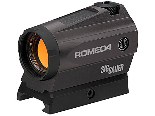 Sig Sauer SOR41201 ROMEO 4C Solar Red Dot Sight 2/65 MOA Gun Scope (1x20mm, Graphite) by Sig Sauer